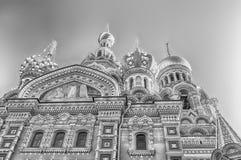 Kerk van de Verlosser op Gemorst Bloed, St Petersburg, Rusland Royalty-vrije Stock Foto