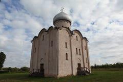 Kerk van de Verlosser op Nereditsa stock foto