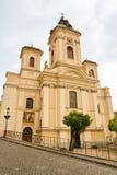 Kerk van de Veronderstelling van Maagdelijke Mary in Banska Stiavnica stock afbeelding