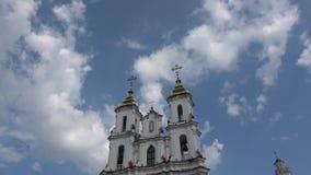 Kerk van de Verrijzenis van Christus in Vitebsk stock videobeelden