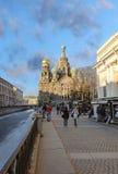 Kerk van de Verrijzenis (Verlosser op Gemorst Bloed) Heilige Petersburg Royalty-vrije Stock Afbeelding