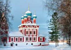 Kerk van Dmitry op het Bloed in Uglich het Kremlin royalty-vrije stock foto's
