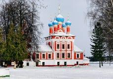 Kerk van Dmitry op het Bloed in Uglich het Kremlin stock afbeelding