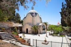 Kerk van Dominus Flevit. Jeruzalem, Israël stock fotografie