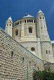 Kerk van dormition, Jeruzalem stock foto