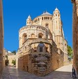 Kerk van Dormition in Jeruzalem, Israël Royalty-vrije Stock Afbeeldingen