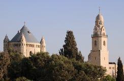 Kerk van Dormition ofVirgin Mary in Jeruzalem Stock Fotografie