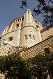 Kerk van Dormition op Onderstel Zion, Jeruzalem Stock Foto