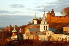 Kerk van Elijah de Helderziende en het Kremlin Stock Afbeeldingen
