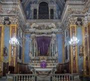 Kerk van Gesu in Nice, Frankrijk Stock Afbeeldingen