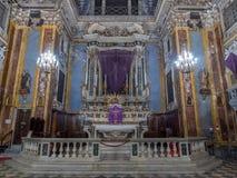 Kerk van Gesu in Nice, Frankrijk Royalty-vrije Stock Foto's