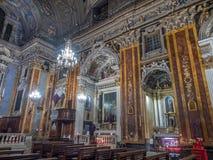 Kerk van Gesu in Nice, Frankrijk Stock Afbeelding