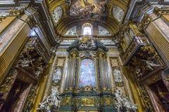 Kerk van Gesu, Rome, Italië Royalty-vrije Stock Fotografie