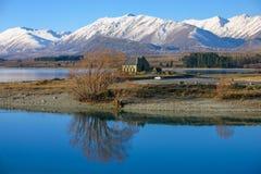Kerk van Goede Shepard, Tekapo Nieuw Zeeland Royalty-vrije Stock Foto's