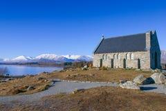 Kerk van Goede Shepard, Tekapo Nieuw Zeeland Stock Afbeeldingen