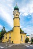 Kerk van Heilige Antonius in Lienz, Oostenrijk Royalty-vrije Stock Foto's