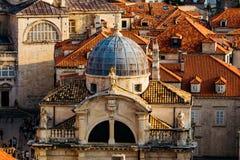 Kerk van Heilige Blaise in het oude deel in Dubrovnik, Kroatië Stock Foto