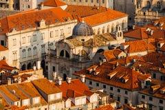 Kerk van Heilige Blaise in het oude deel in Dubrovnik, Kroatië Royalty-vrije Stock Afbeelding