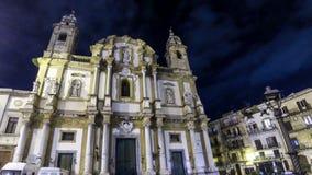 Kerk van Heilige Dominic in Palermo, Sicilië, Italië stock videobeelden