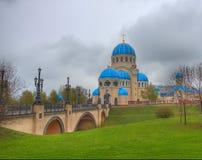 Kerk van Heilige Drievuldigheid bij de Borisovo-vijvers Royalty-vrije Stock Foto's