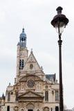 Kerk van heilige-Etienne-du-Mont in Parijs Stock Afbeelding