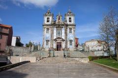 Kerk van Heilige Ildefonso in Porto Stock Foto's