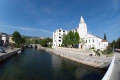 Kerk van heilige maagdelijke Mary in Crikvenica, Kroatië Royalty-vrije Stock Afbeelding