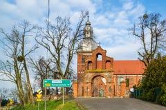 Kerk van Heilige Martin in Znin, Polen stock foto's