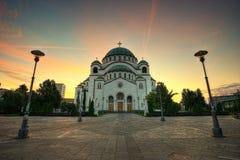 Kerk van Heilige Sava Belgrade Serbia stock afbeeldingen