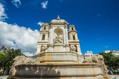 Kerk van Heilige Sulpice in Parijs, Frankrijk Royalty-vrije Stock Foto's