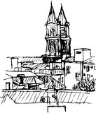 Kerk van het dak Stock Afbeelding