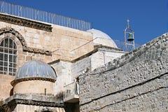 Kerk van het Heilige Grafgewelf - Golgotha Stock Foto