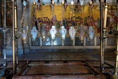 Kerk van het Heilige Grafgewelf in Jeruzalem stock afbeeldingen