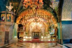 Kerk van het Heilige Grafgewelf, Jeruzalem stock foto