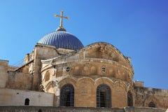 Kerk van het Heilige Grafgewelf in Jeruzalem stock fotografie