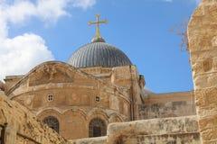 Kerk van het Heilige Grafgewelf jeruzalem stock afbeelding