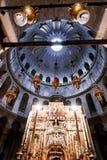 Kerk van het Heilige Grafgewelf in oude stad Jeruzalem, Israël stock afbeelding