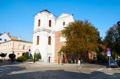 Kerk van het Heilige Hart van Jesus poznan Stock Foto