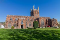 Kerk van het Heilige Kruis, Crediton Devon Stock Afbeeldingen