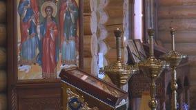 Kerk van het Kazan pictogram van de Moeder van God in Chapaevsk stock footage