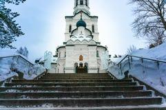 Kerk van het Kazan pictogram van de Moeder van God stock afbeeldingen