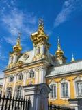 Kerk van het Peterhof` s de Grote Paleis Stock Afbeelding