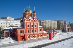 Kerk van het pictogram van de Moeder van God ` het Teken ` in Moskou, Rusland Royalty-vrije Stock Foto's