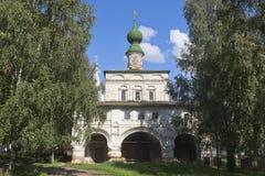 Kerk van het Pictogram van de Moeder van God van Vladimir bij het Klooster mikhailo-Arkhangelsk in Veliky Ustyug Royalty-vrije Stock Afbeelding