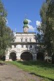 Kerk van het Pictogram van Onze Dame van Vladimir in het michael-Aartsengel Klooster in Veliky Ustyug Stock Afbeelding