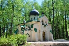 Kerk van het Pictogram van Vernicle in de museum-Reserve Abramtsevo Het Gebied van Moskou, Rusland Royalty-vrije Stock Foto