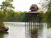 Kerk van het water in Thailand royalty-vrije stock afbeeldingen