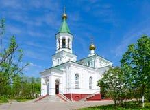 Kerk van Interventie van Heilige de Beschermingskerk van Vergine Santa, Polotsk, Wit-Rusland royalty-vrije stock afbeeldingen