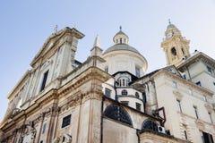 Kerk van Jesus (Chiesa del Gesu) in Genua stock afbeelding