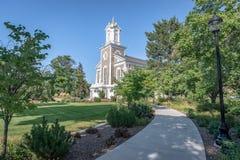 Kerk van Jesus Christ van laatstgenoemde-Dagheiligen in Logan, Utah royalty-vrije stock afbeelding